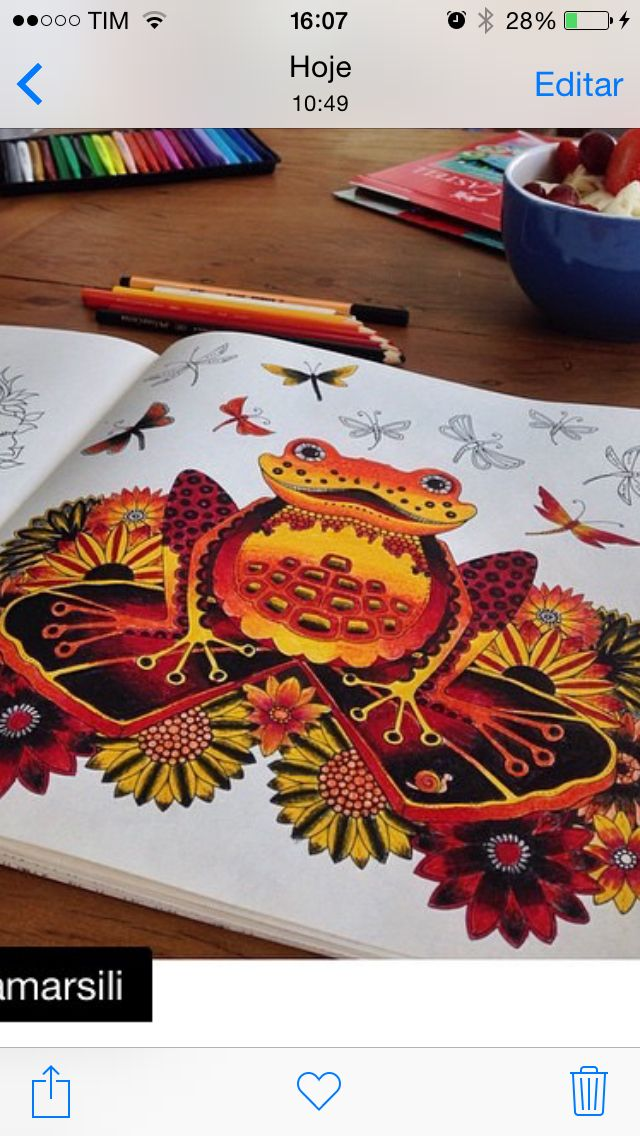 Johanna Basford Coloring Book Books Adult Design Big Kids Color Inspiration Frogs Painting Techniques