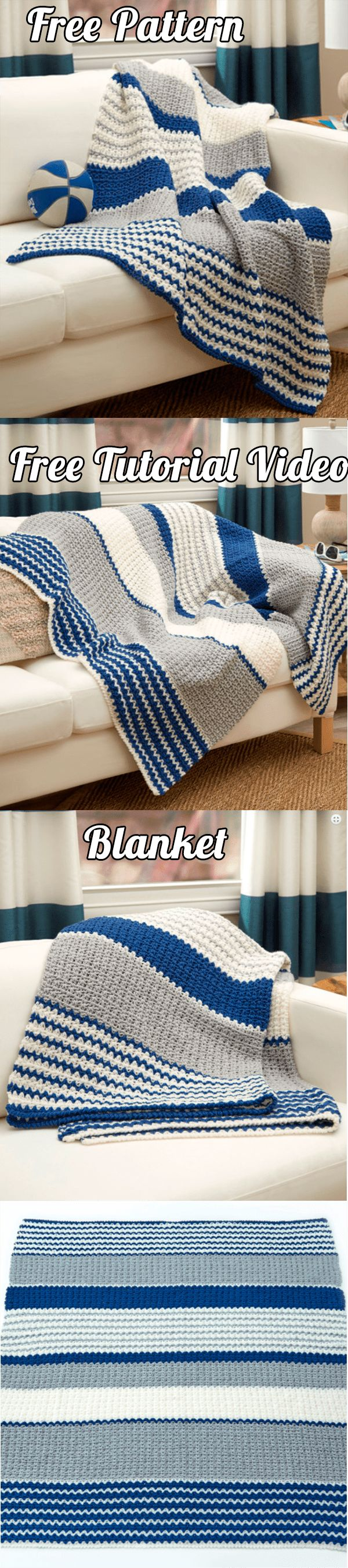 See How to Make Blue Crochet Blanket With Free Pattern and Video Tutorial | Blanket, Blanket Baby, Crochet Free Patterns, Crochet Free Standards, Crochet Free Tutorial, Blanket, Crochet Charts, Crochet Tips, Step by Step, Written Instructions, Crochet Fashion, Crochet Inspiration, Free Patterns, decoration, DIY, Crafts