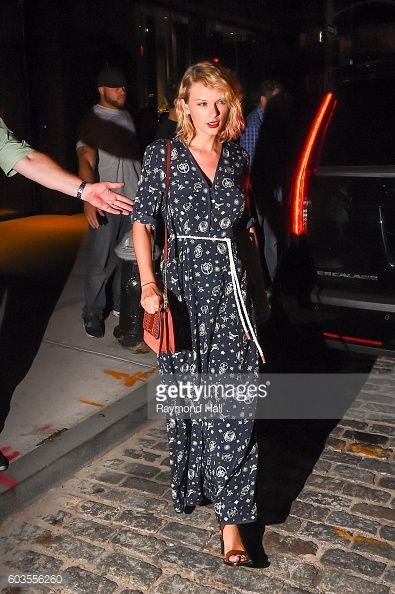 Taylor Swift, seen walking in Soho on September 12, 2016 in New York City.