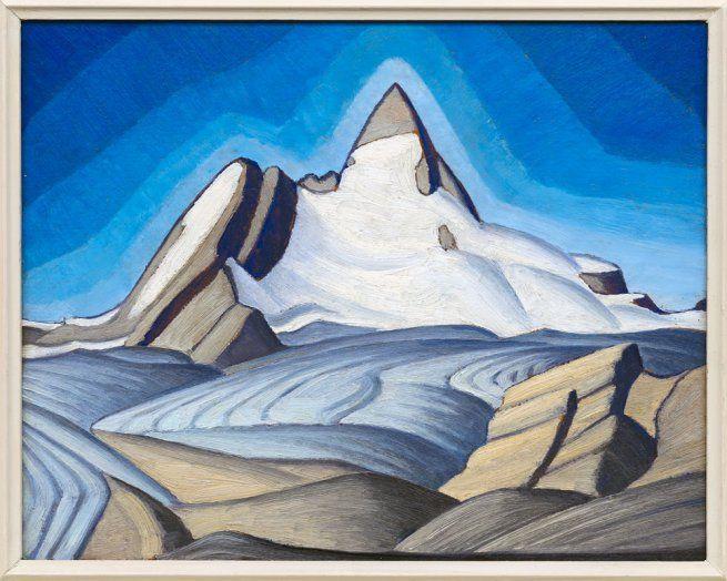 Lawren Harris | Isolation Peak (c. 1939) | Oil on panel, 30 x 37.5 cm | Collection: A. K. Prakash | © Family of Lawren S. Harris