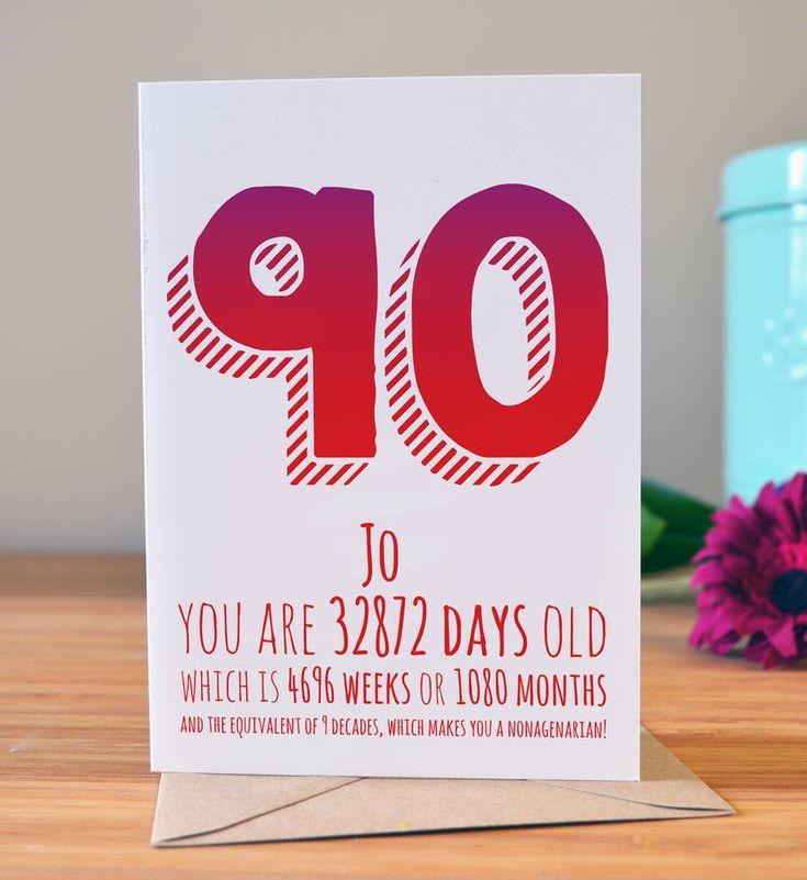 90th birthday milestone card in 2020 90th birthday cards