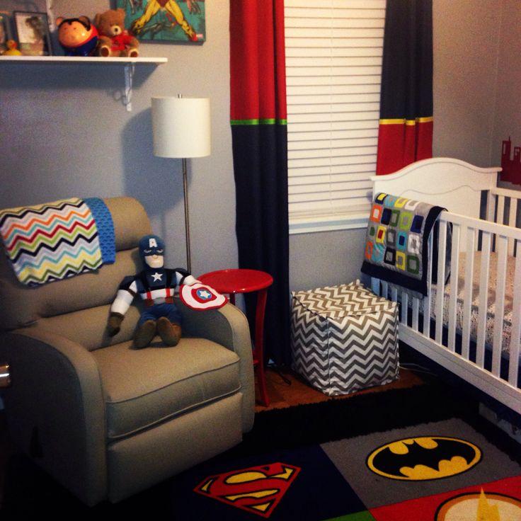 Superhero nursery for baby boy your husband will be for Boys marvel bedroom ideas