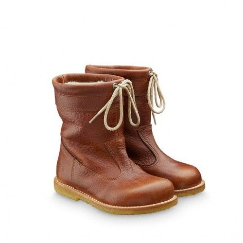 Brown leather boots by Angulus #kids #shoes