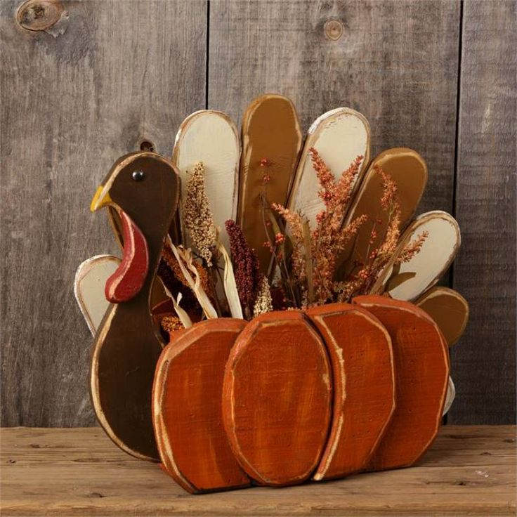Wooden Turkey Centerpiece Container in 2020 Wooden