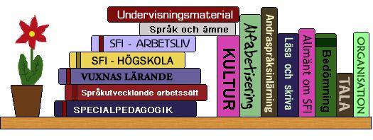Nationellt centrum för svenska som andraspråk - Resursbanken: en guldgruva av information. Läs om alfabetisering, om vuxnas lärande, hitta undervisningsmaterial och mycket mer. Resursbanken uppdateras inte längre, men det finns mycket användbart som det är.