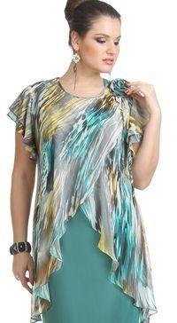 Llanura Casuales Poliéster Cuello redondo Manga corta Camisas (1041012) @ floryday.com