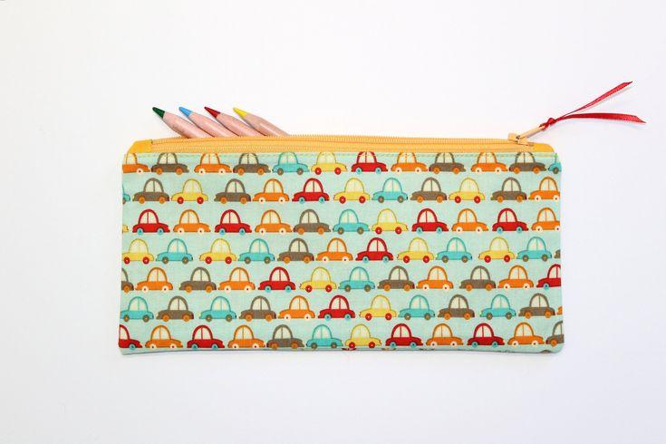 Car Pencil Case, Pencil Pouch, Pencil Bag, Kids Pencil Case, Small Pencil Case, Cute School Supplies by LittleFoxSewsLots on Etsy