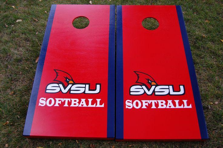 Saginaw Valley State University softball cornhole boards!