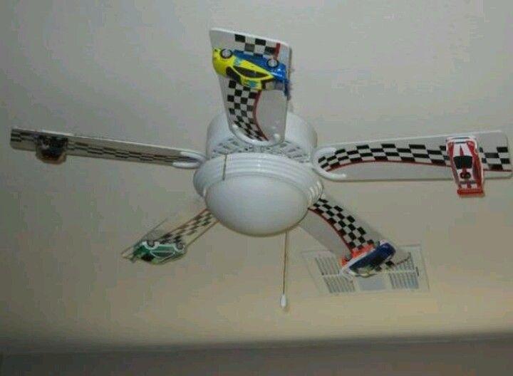 Racecar fan ! Bedroom decor .. Watch the cars go in circles nascar room