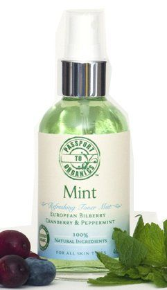 Organic Mint - Refreshing Toner Mist with European Bilberry, Cranberry and Peppermint - http://essential-organic.com/organic-mint-refreshing-toner-mist-with-european-bilberry-cranberry-and-peppermint/