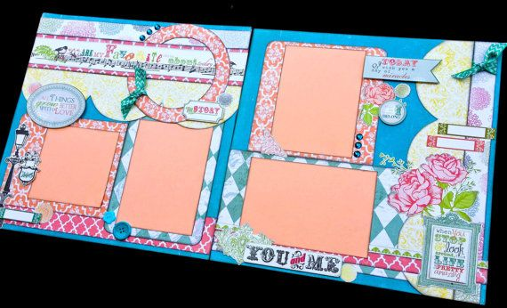 12x12 Scrapbook Page You Are My Favorite Thing About Today. Echo Park Victoria's Garden.