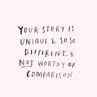 "Ever hear someone's success story & think ""Oh, I should be like that""? Truth is, your path is yours alone. Today, own your story."