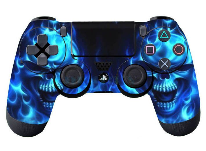 Faceplates, Decals & Stickers Vinyl Skin Cover Blue Flames Decal Sticker For Sony Playstation 4 Video Game Accessories