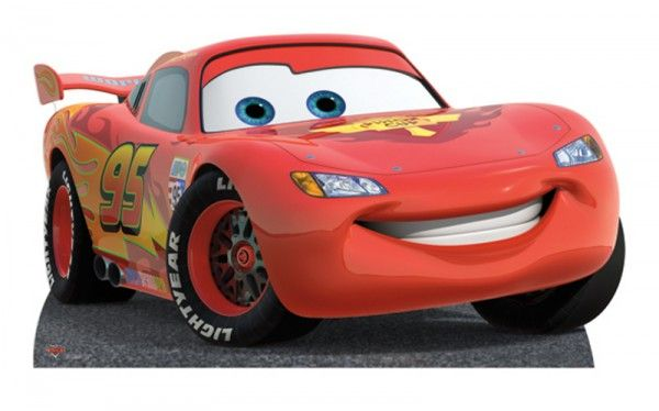 Figurine En Carton Taille Reelle Disney Cars Flash Mcqueen