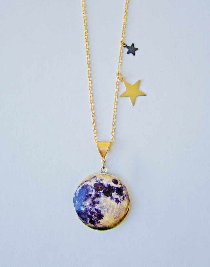 Over The Moon Lunar Locket — Eclectic Eccentricity Vintage Jewellery
