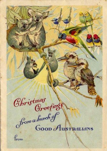 1950s Australian Christmas card