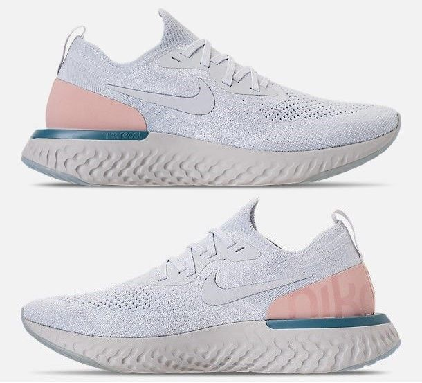 new style dd16a 2caad NIKE EPIC REACT FLYKNIT WOMENs RUNNING PLATINUM - PARTICLE BEIGE - TEAL -  PLATIN  fashion  clothing  shoes  accessories  womensshoes  athleticshoes  (ebay ...