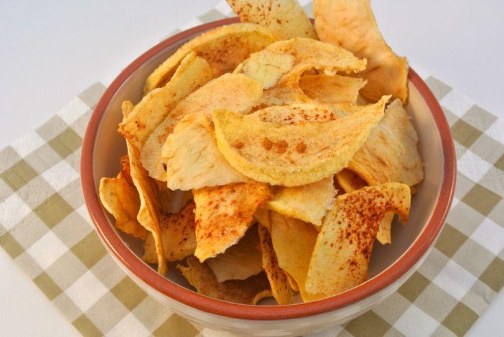 Zelfgemaakte appelchips uit de oven