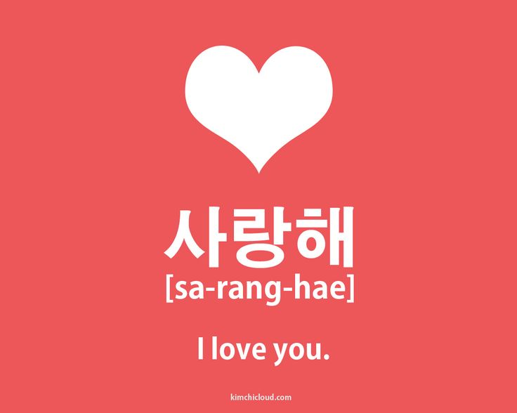 How to say I love you in the Korean language!
