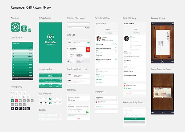 Remember UI Pattern library on Behance