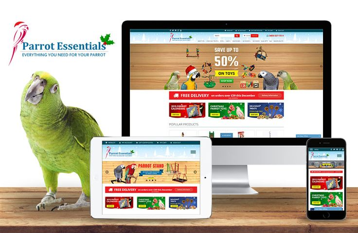 Parrot Essentials website transformed into a more user-friendly site, since it can now be viewed on mobile phones and tabs.     #pinoftheday #ecommerce #bigcommerce #digitalmarketing #cleverlocal