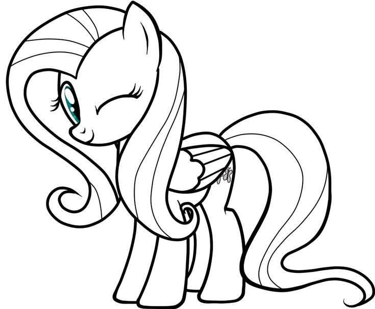 My Little Ponies Friendship Is Magic Fluttershy Coloring Printable