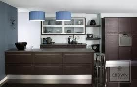 Perfect, dark cupboards, dark tops, no overheads and an oven stack!!!