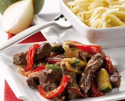 Beef and Vegetables Stir Fry with Noodles Recipe -