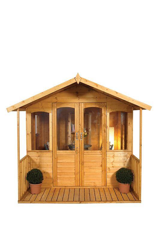 small summerhouse with veranda
