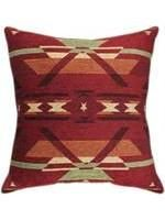Pillow - Aztec Needlepoint Red