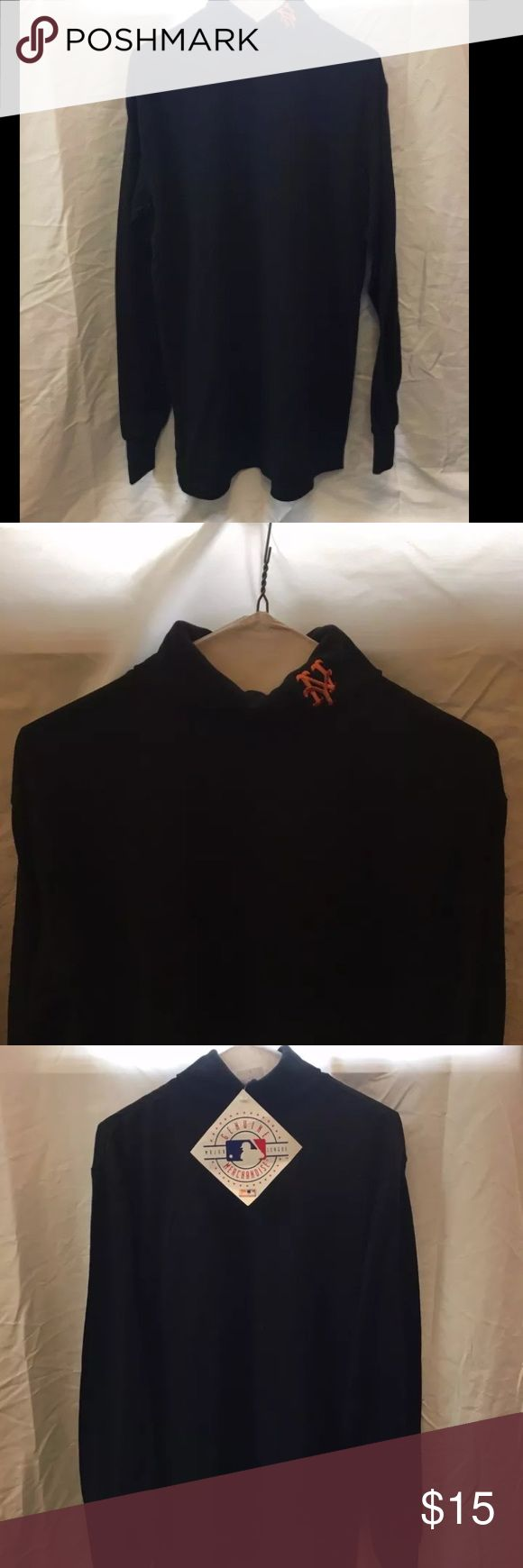 New York Mets Mens Turtleneck This item is new, never been worn and still has the original tag on it. It is a size large. The New York Mets logo is on the actual turtle neck part. Majestic Shirts Tees - Long Sleeve