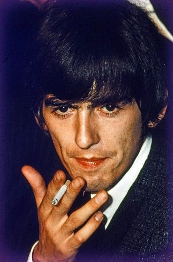 There are close-up portraits from the Las Vegas Sahara Hotel press conference, the Las Vegas Convention Centre gig and from a private party at the Beverly Hills mansion of Alan Livingston, then president of Capitol Records. Above, George Harrison.