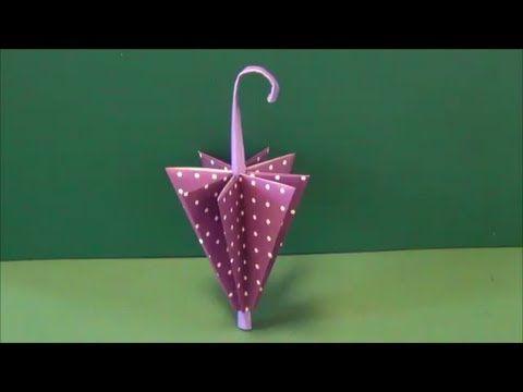 """▶ 梅雨「傘」折り紙Rainy season """"umbrella"""" origami - YouTube"""