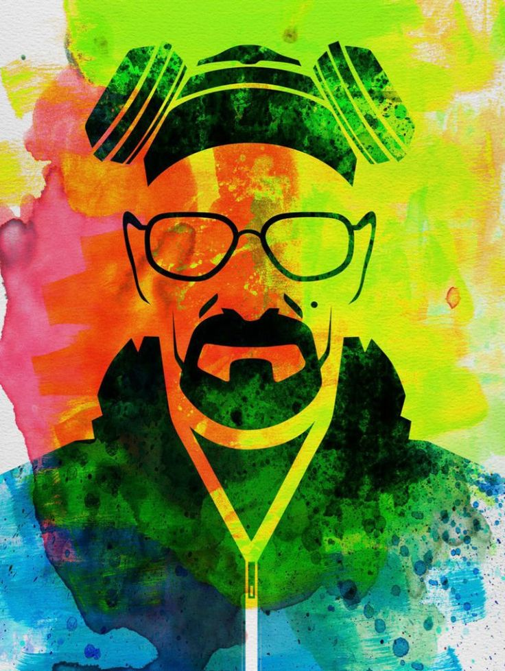 Walter White Watercolor Poster