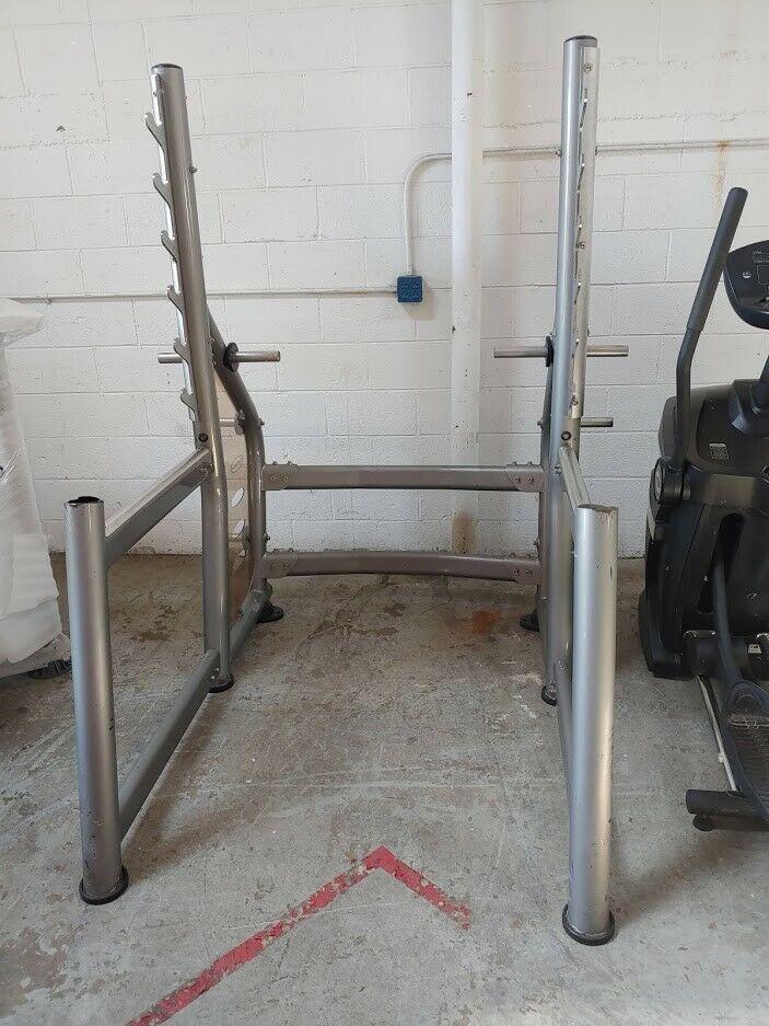 Used Squat Rack >> Ad Ebay Used Matrix Fitness Squat Rack Strength Fitness Commercial