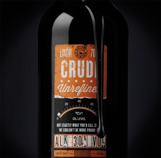 Packaging for a chili based liquorice alcoholic beverage bottle designed by Neumeister.