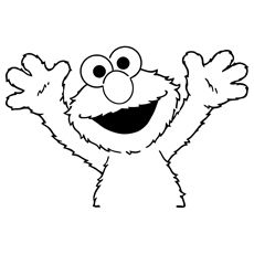 25 cute elmo coloring pages for your little ones - Sesame Street Coloring Pages Elmo