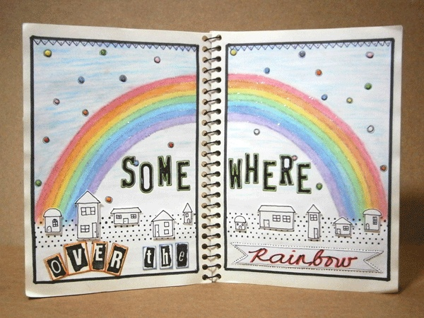 Rainbow #journalbook #artjournal #mixedia