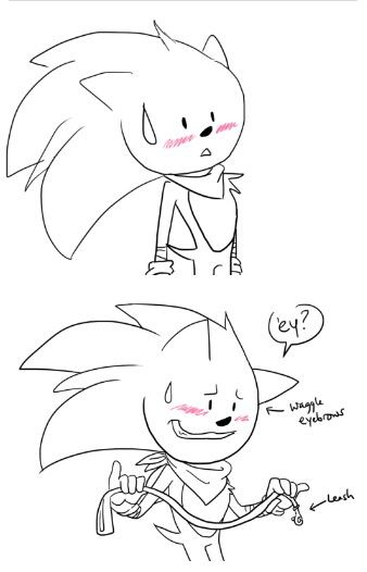 sonic reaction to amy u0026 39 s harness by e