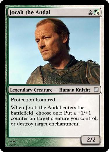 Jorah the Andal: human knight
