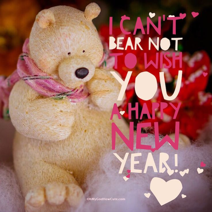 Funny cards to send to your friends, show them that they are in your thoughts and make them smile along the way! #NewYear #wishes #cards #funny #bear