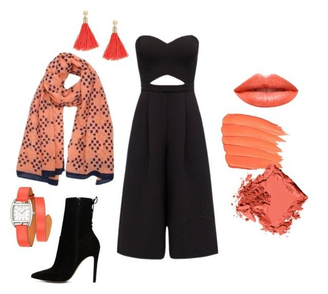"""""""Orange is the new black"""" by florenzcollection on Polyvore featuring mode, Florenz, Bobbi Brown Cosmetics, ALDO, Ardency Inn, FOSSIL et Hermès"""