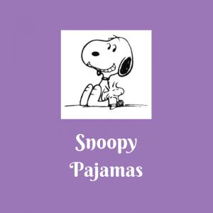 List of Snoopy Pajamas This list of Snoopy pajamas has Snoopy pajamas for everyone!  If you know someone that loves Snoopy, some pajamas would be a great gift for them.  We can always use new pajamas.  Snoopy is so much fun to me!