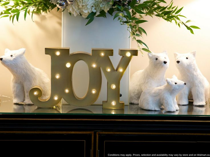 Joy to the world and to your home create a welcoming christmas scene with a playful polar bears and seasonal décor starting at only 12 98 you could buy