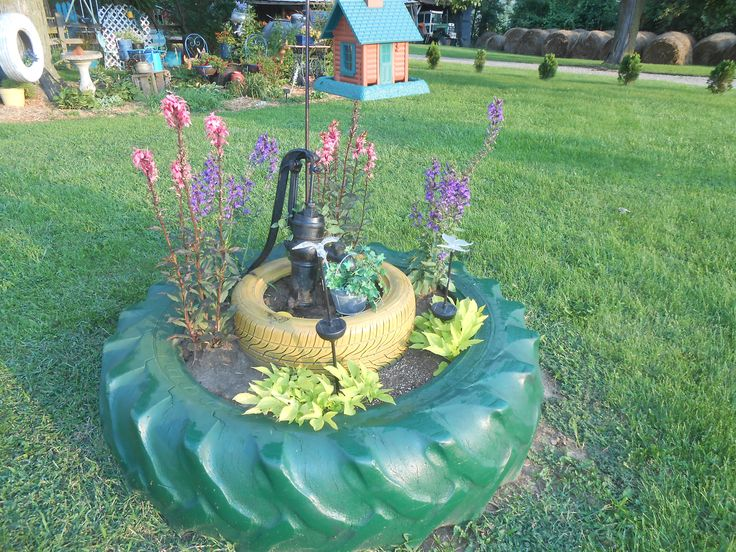 Tractor Tire Planter Yard Art Pinterest Tire