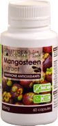 """<p> <span style=""""color:#a52a2a;""""><span style=""""font-size: 10pt;""""><span style=""""font-family: Arial; font-weight: bold;"""">Xanthone Antioxidants</span></span></span><br /> The Mangosten fruit is an abundant source of polyphenols called Xanthones. It is particularly rich in the xanthone alpha-mangostin, a potent antioxidant. The body uses antioxidants%..."""