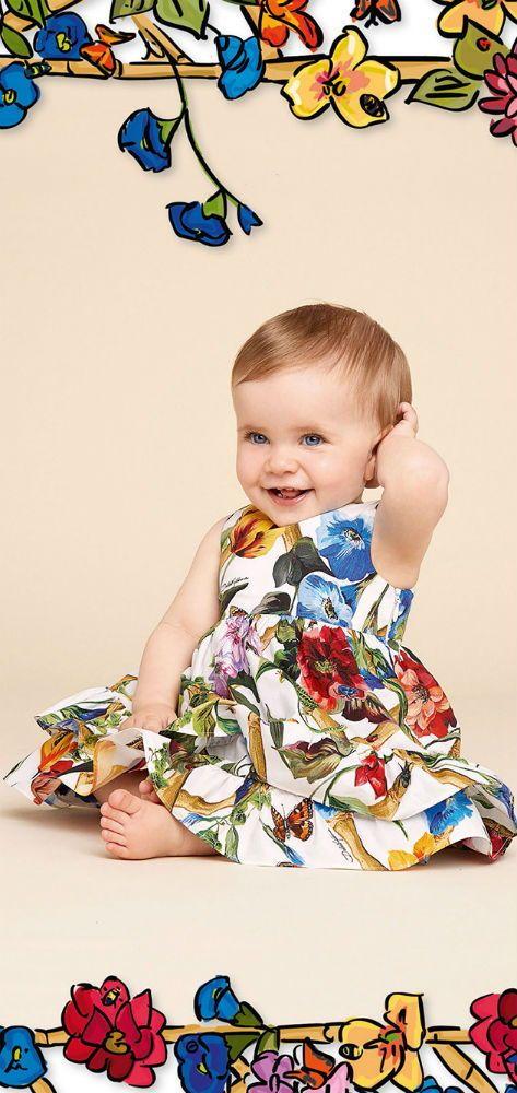 eb1cac54bf DOLCE   GABBANA Baby Girls Mini Me Fiori Rampicanti Climbing Flower Mini Me  Dress for Spring Summer 2018. Love this delightfully pretty mini me look ...