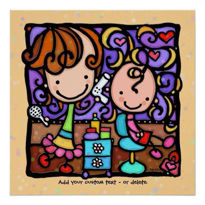 Customizable #Beauty#Business #Blow#Dry #Childrens#Salon #Cosmetology #Cute#Haircut #Cute#Little#Girl #Girly #Girly#Girl #Hair#Dresser #Hair#Salon #Hair#Stylist #Karinb #Littlegirlies #Promote#Business#Hair #Starting#New#Business#Hair #Unique#For#Hair#Dresser LittleGirlie loves her Hair Salon TAN custom art Poster available WorldWide on http://bit.ly/2gT87yV
