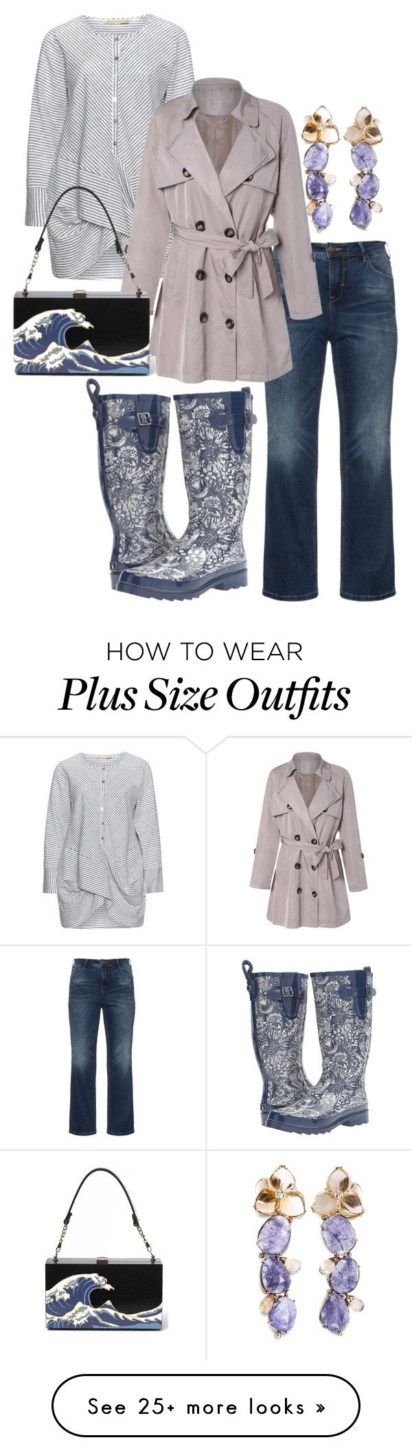 """plus size pearl"" by aleger-1 on Polyvore featuring Sakroots, Zizzi and Isolde Roth"