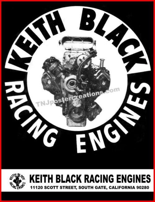 keith black racing engines tribute poster drag racing